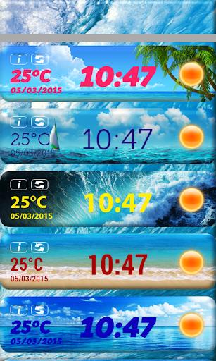 海时钟天气小工具