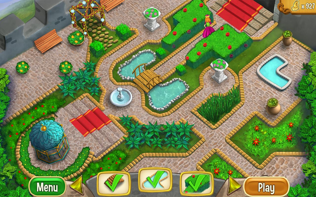 queens garden screenshot - Garden Design Game