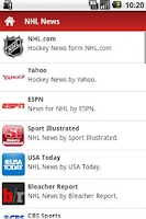 Screenshot of American Hockey News