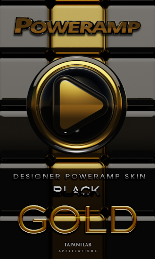 Poweramp skin 黒い金