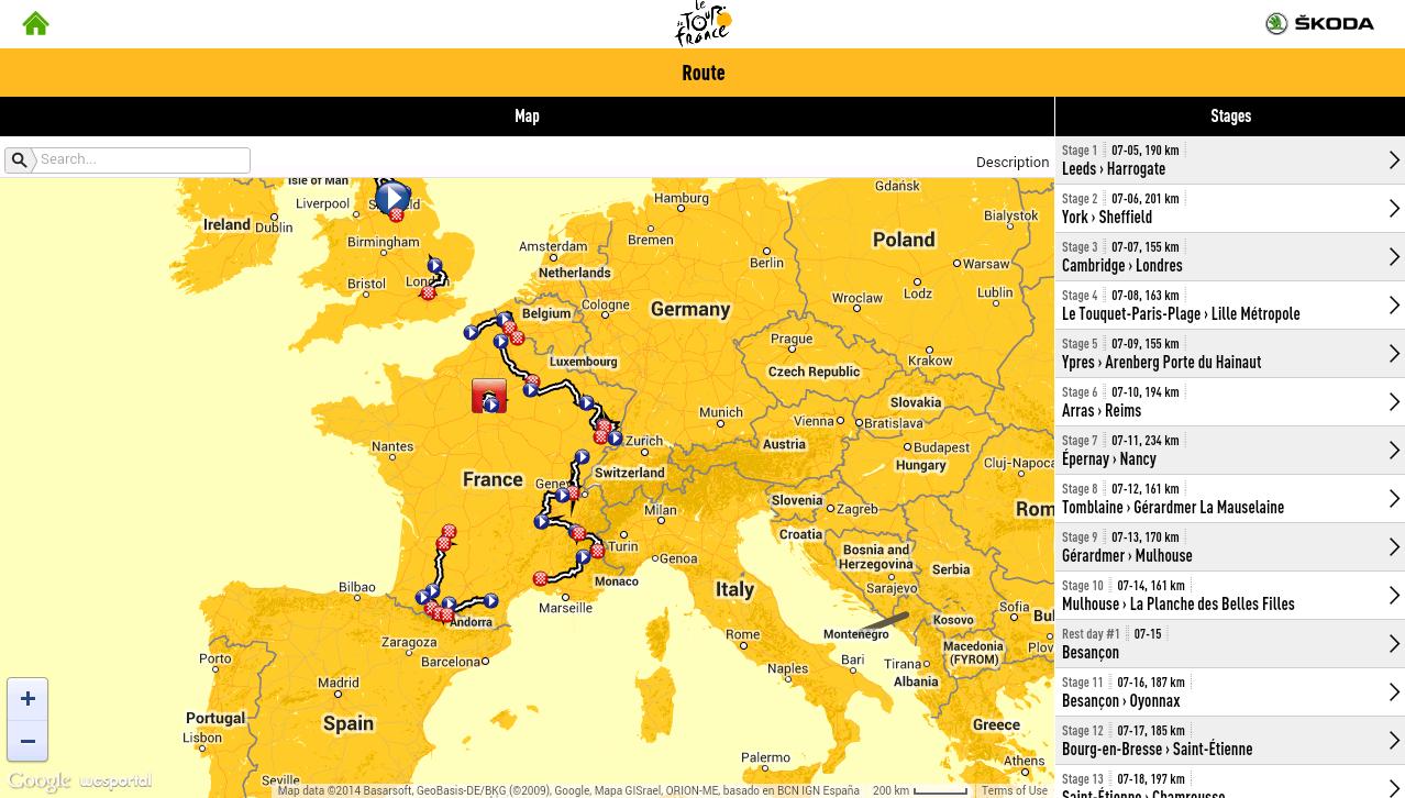 TOUR DE FRANCE 2014 by ŠKODA - screenshot