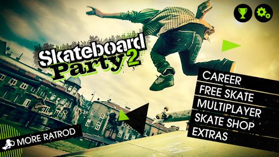 1 Skateboard Party 2 Lite App screenshot