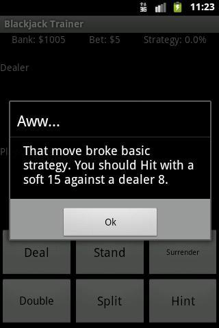 Blackjack Trainer- screenshot