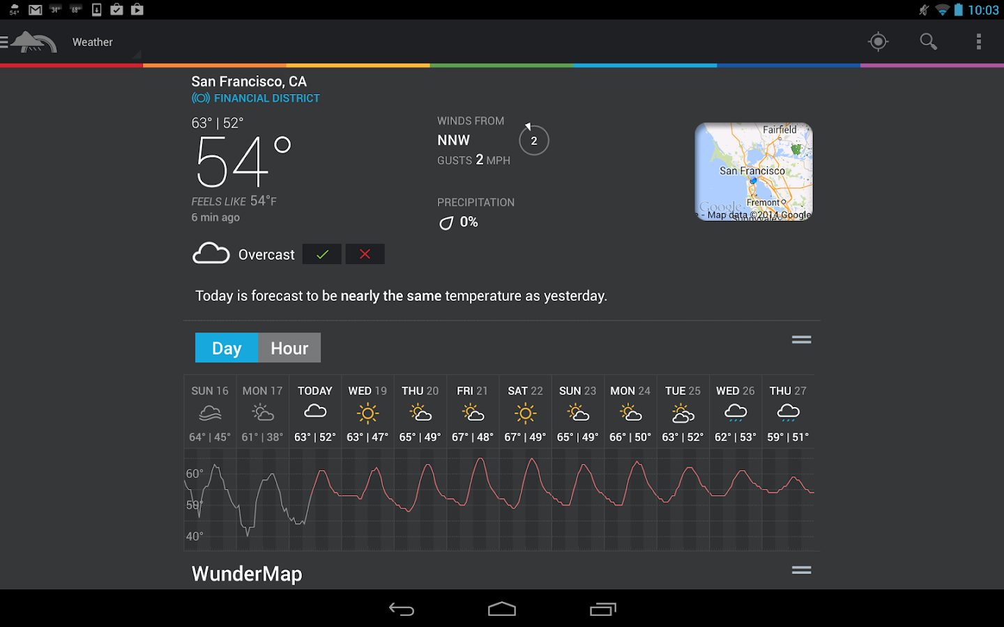 Weather Underground - screenshot
