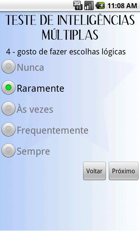 Teste Inteligências Múltiplas - screenshot