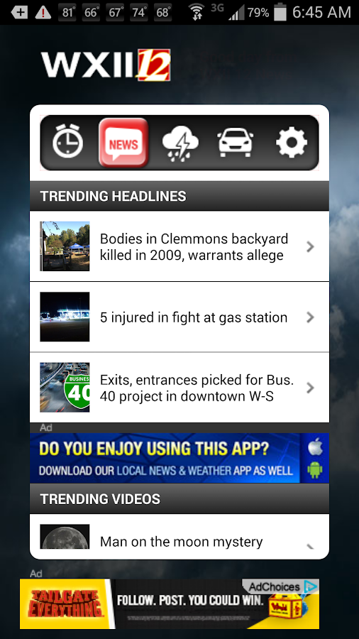 Alarm Clock WXII 12 News - screenshot
