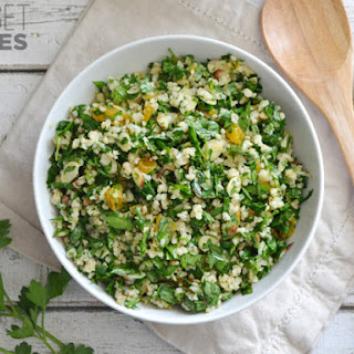 Parsley Salad with Almonds and Apricots.