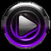 Poweramp skin Purple Glow