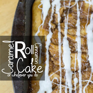 Caramel Roll Cinnamon Cake
