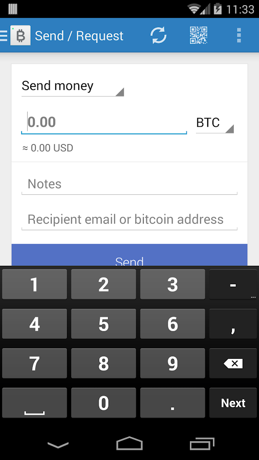 Bitcoin Wallet - screenshot