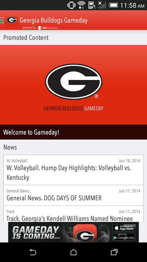 Georgia Bulldogs Gameday LIVE - screenshot