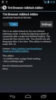 Screenshot of Tint Browser Adblock addon