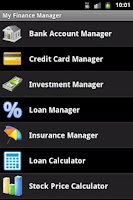 Screenshot of My Finance Manager