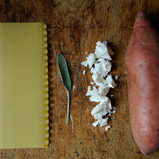 Sweet Potato, Goat Cheese and Sage Pasta Pile-Up Recipe