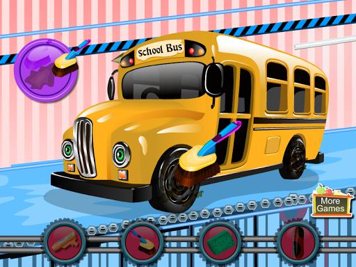 School Bus Car Wash|玩休閒App免費|玩APPs