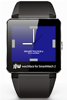 Screenshot of Square Clock5 for SmartWatch 2