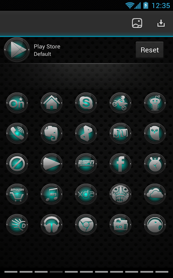 Next Launcher Black and Cyan - screenshot