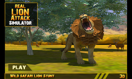 Real Lion Attack Simulator 3D