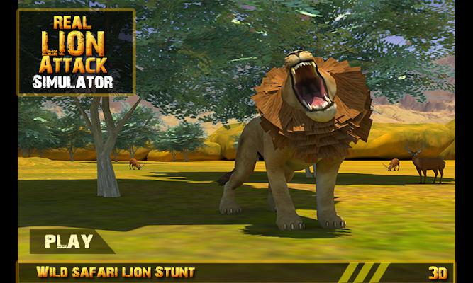 Real Lion Attack Simulator 3D - screenshot