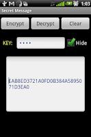 Screenshot of Secret Message