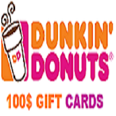 $100 Dunkin Donuts Gift Cards