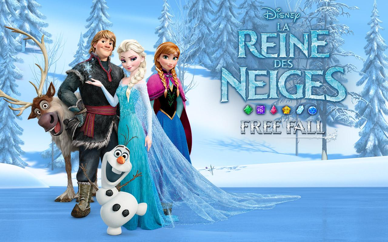 la reine des neiges free fall capture dcran