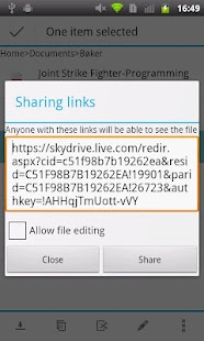 Android Explorer for OneDrive - screenshot thumbnail