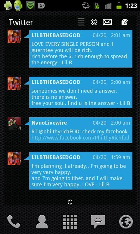 LP+ Windows Phone 7 Blue Skin - screenshot