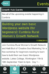 Cumbria Business Growth Hub- screenshot thumbnail