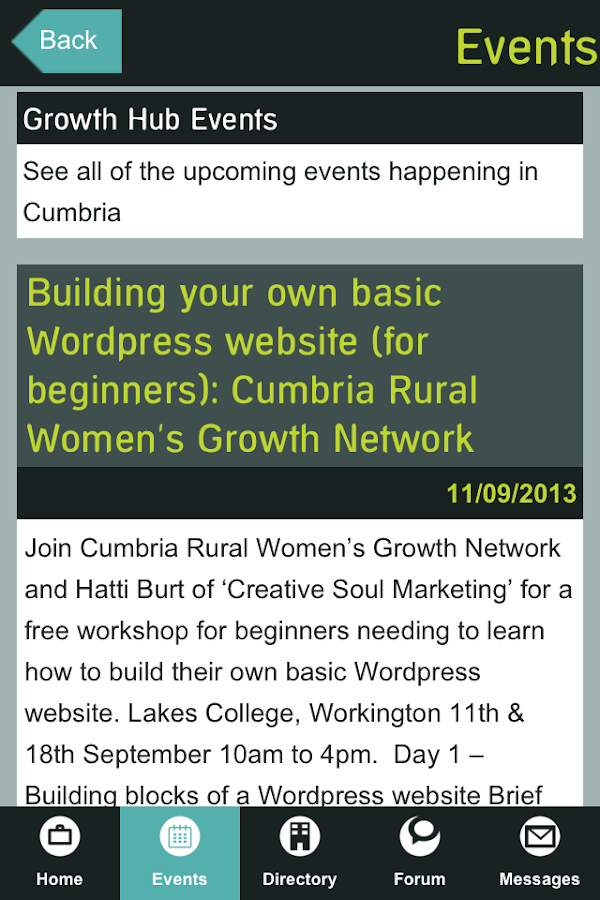 Cumbria Business Growth Hub- screenshot