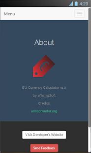 EU Currency Calculator Screenshot 4