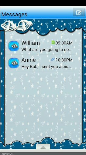 GO SMS THEME SleighBells4U