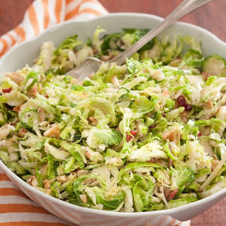 Brussels Sprout Salad with Parmesan and Walnuts