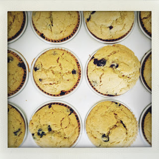 Chia & Blueberry Muffins.