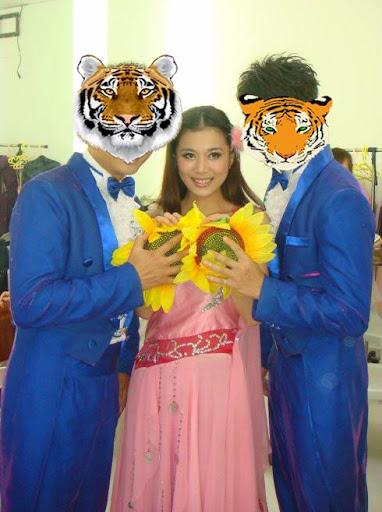 老虎和動物的相框