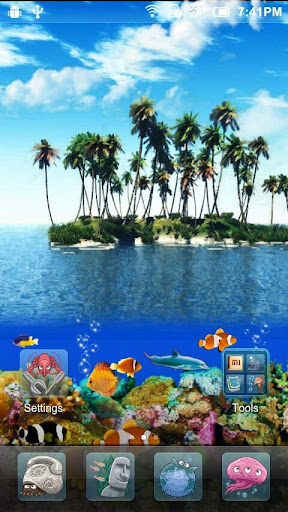 玩休閒App|3D Tropical Ocean Aquarium免費|APP試玩