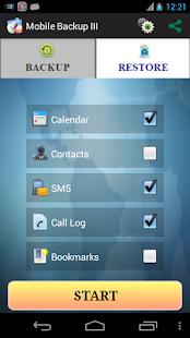 Mobile Backup 3- screenshot thumbnail