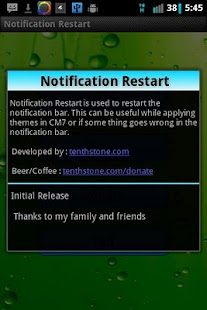 Notification Restart - screenshot thumbnail