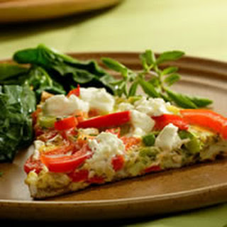 Red Pepper and Goat Cheese Frittata.