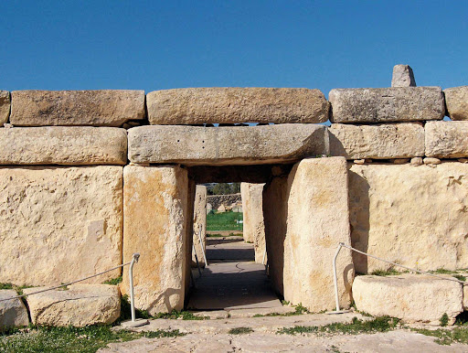 Hagar Qim, a Neolithic Temple on Malta built  between 3600 – 3200 BC.