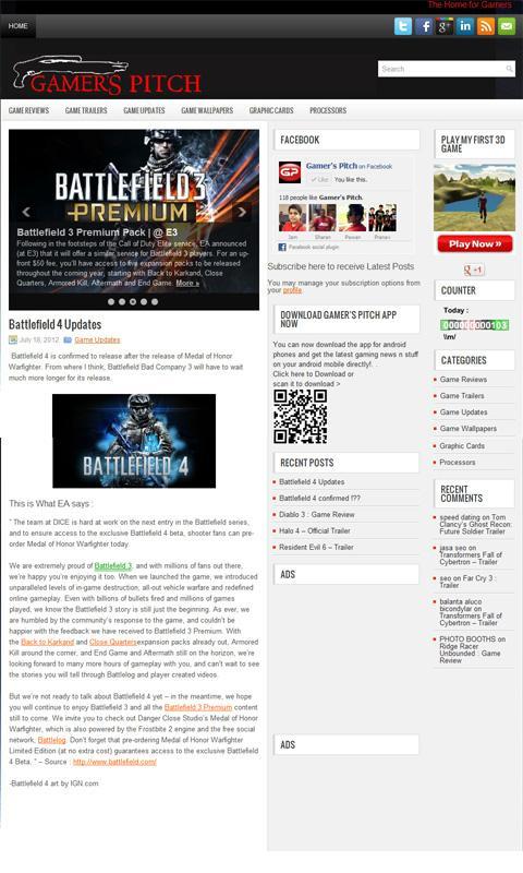 Gamers Pitch- screenshot
