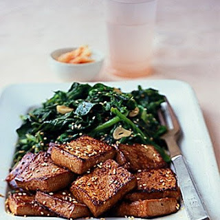 Sauteed Tofu with Bitter Greens