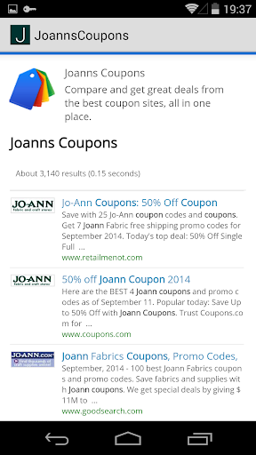 Coupons for Joanns