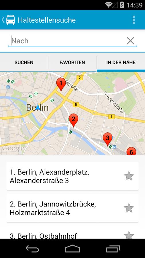 Busliniensuche - Fernbus App - screenshot