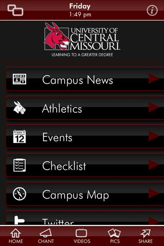 University of Central Missouri- screenshot