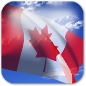 3D Canada Flag Live Wallpaper+