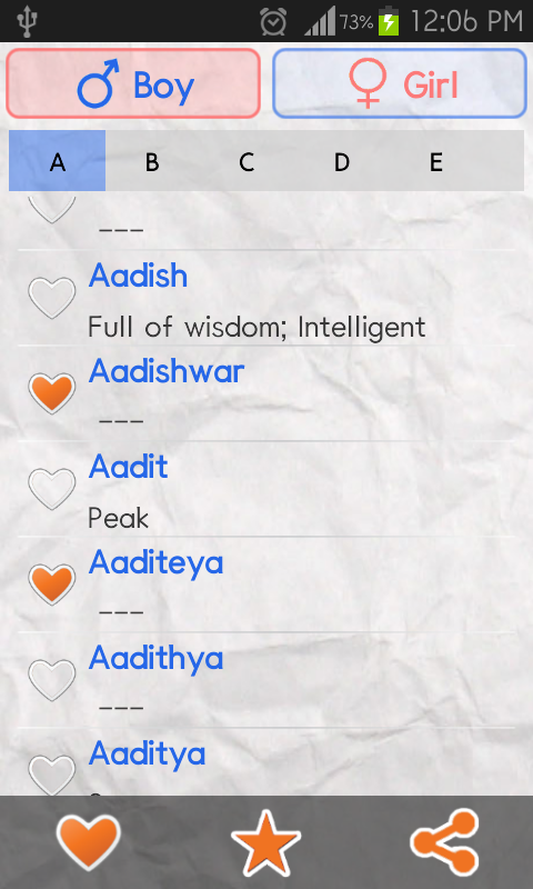 Baby Names Indian Screenshot