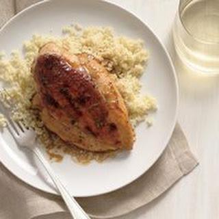 Caramel-Balsamic-Glazed Chicken over Couscous