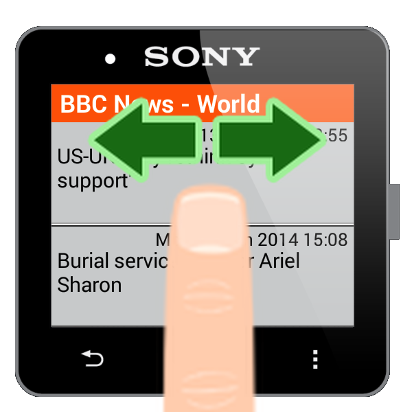 RSS for SmartWatch 2- screenshot