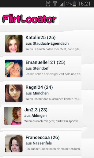 Flirtlocator Partnersuche
